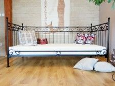 Łóżko metalowe sofa 90x200 wzór 4S ze stelażem