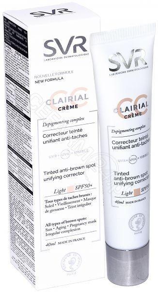 SVR CLAIRIAL CC SPF50+ LIGHT Krem 40 ml