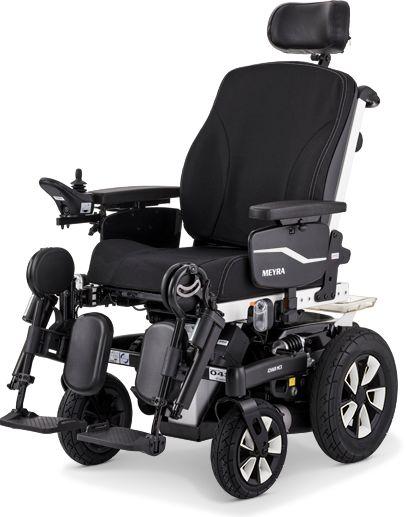 Wózek elektryczny terenowo-pokojowy z podwójną, regulowaną amortyzacją sprężynową - stabilna konstrukcja, bezpieczeństwo i wygoda + śpiwór (Meyra ICHA