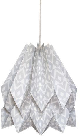 Lampa wisząca Tupi Light Grey Orikomi dekoracyjna oprawa w kolorze szarym
