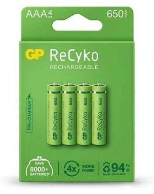 Akumulatory GP ReCyko AAA 650mAh 4szt.. > DARMOWA DOSTAWA ODBIÓR W 29 MIN DOGODNE RATY