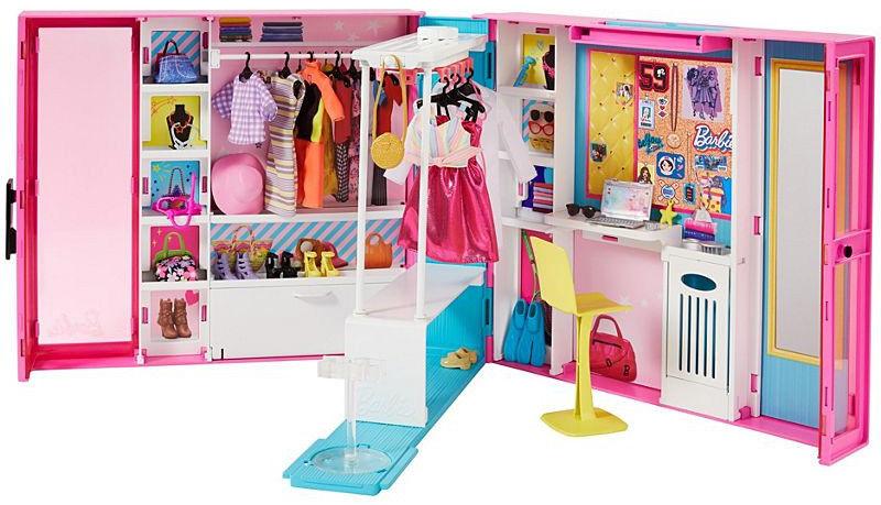 Barbie Wymarzona szafa na ubranka + 5 ubranek GPM43