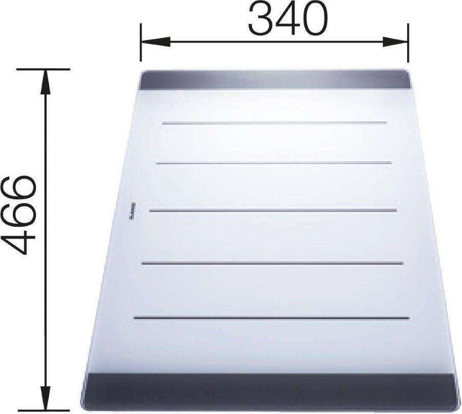 Deska szklana do zlewów Axia Blanco