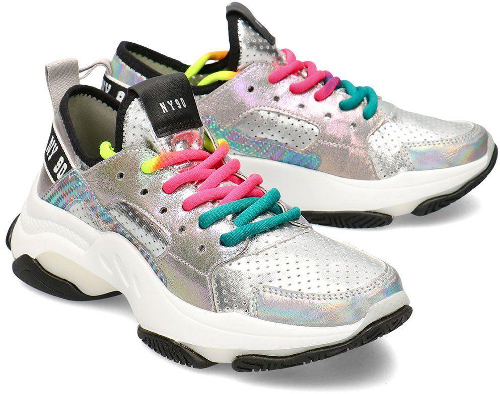 Steve Madden Ajax - Sneakersy Damskie - SM11000586 SILVER METALLIC - Srebrny
