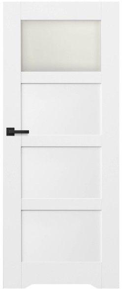 Drzwi bezprzylgowe z podcięciem Connemara 70 prawe kredowo-białe