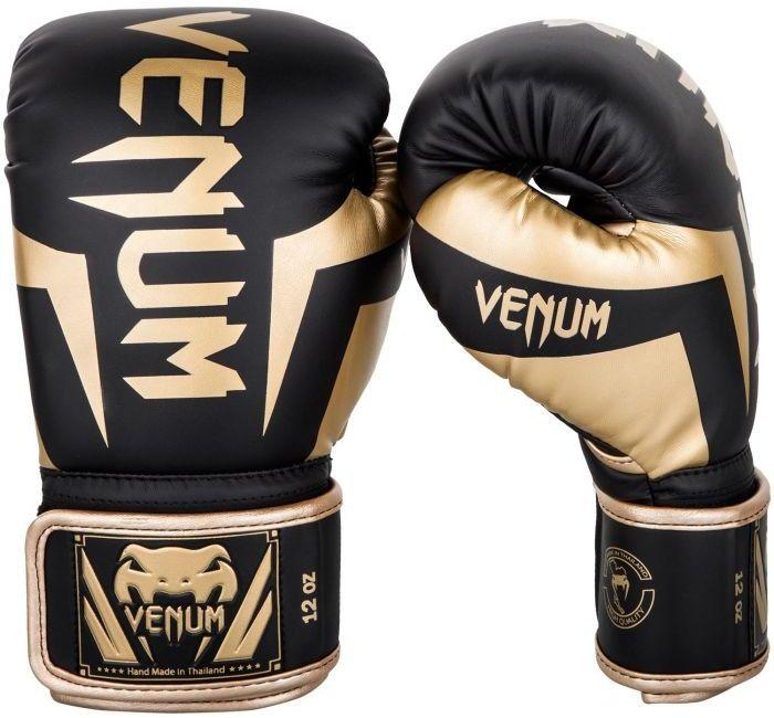 Venum rękawice bokserskie Elite czarno/złote