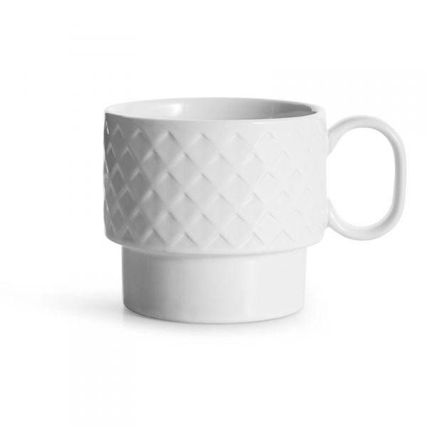 Sagaform COFFEE RETRO Filiżanka do Kawy 400 ml Biała