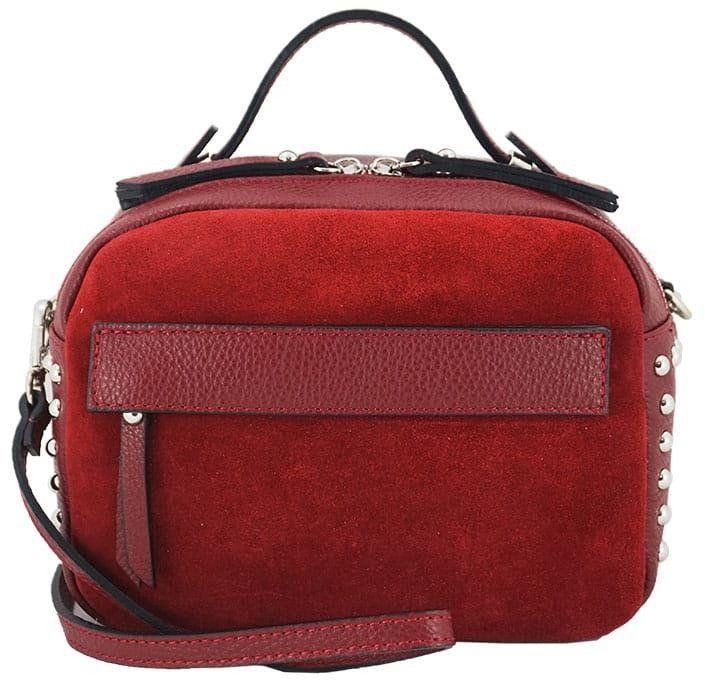 Barberini''s - modna listonoszka z nitami - Czerwona