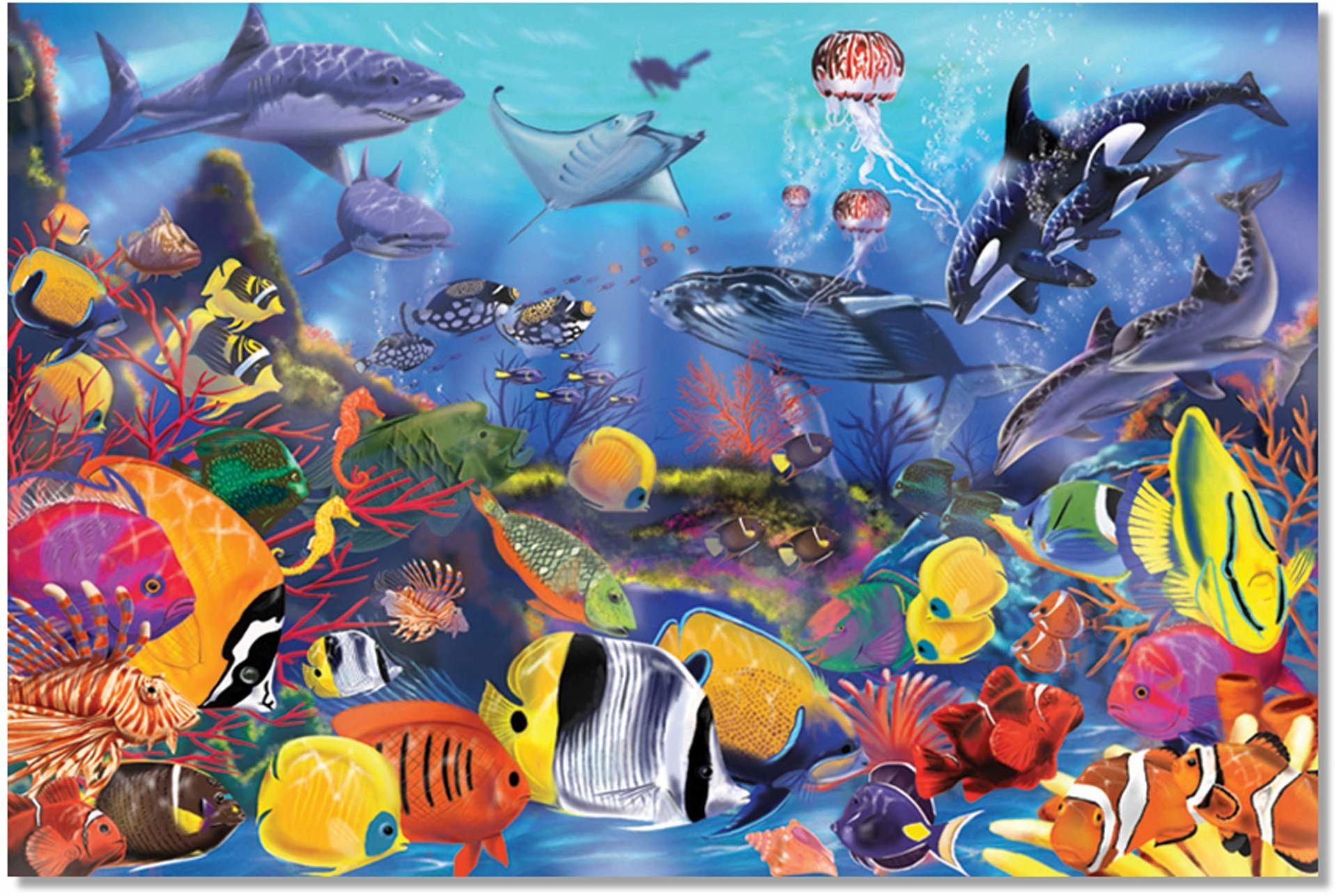 Melissa & Doug Puzzle na podłogę podwodną