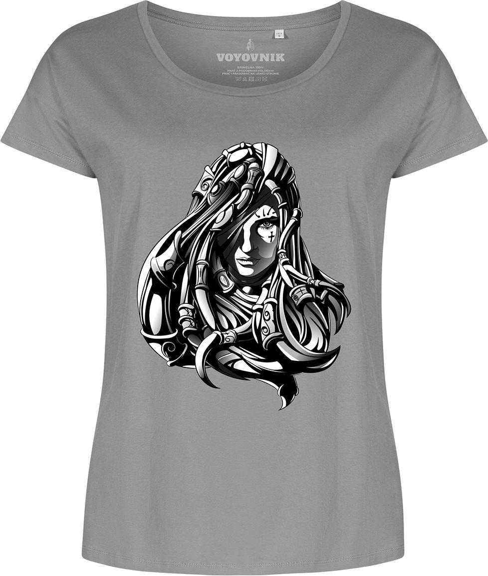 Koszulka T-shirt damska Voyovnik Cyborg Lady - szara (VD3-2105-36-SZ)