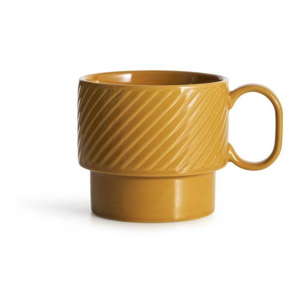 Sagaform COFFEE RETRO Filiżanka do Kawy 400 ml Żółta