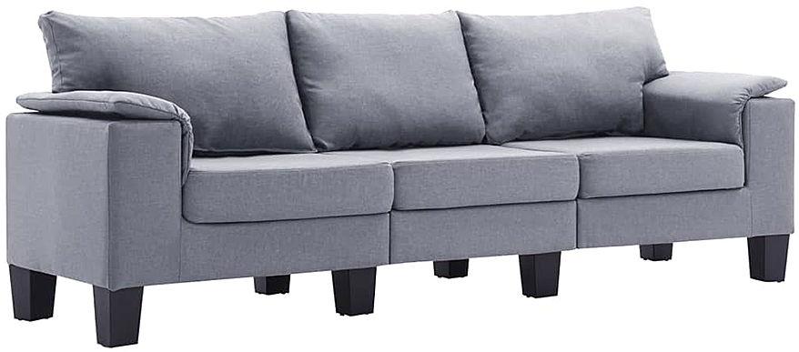 Trzyosobowa ekskluzywna jasnoszara sofa - Ekilore 3Q