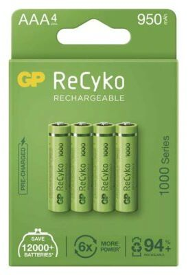 Akumulatory GP ReCyko AAA 950mAh 4szt.. > DARMOWA DOSTAWA ODBIÓR W 29 MIN DOGODNE RATY