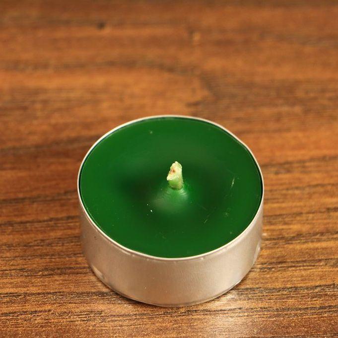 Tealight - świeca z wosku herbaciarka - zielona (6 sztuk)