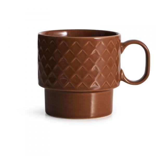 Sagaform COFFEE RETRO Filiżanka do Kawy 400 ml Czerwona