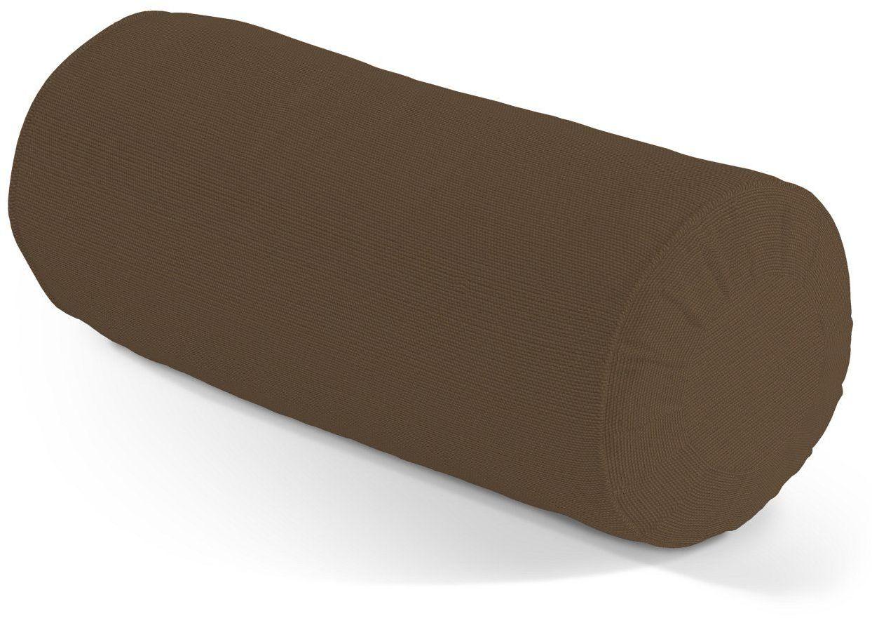 Poduszka wałek z zakładkami, Mocca (brąz), Ø20  50 cm, Cotton Panama