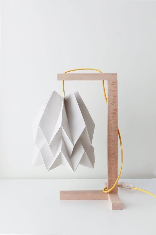 Lampa stołowa Table Light Grey Orikomi minimalistyczna oprawa w nowoczesnym stylu