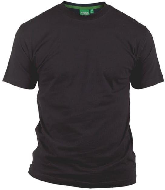 FLYERS-D555 Duży T-shirt Czarny