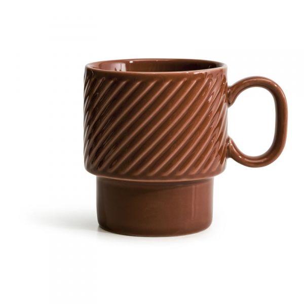 Sagaform COFFEE RETRO Filiżanka do Kawy 250 ml Czerwona
