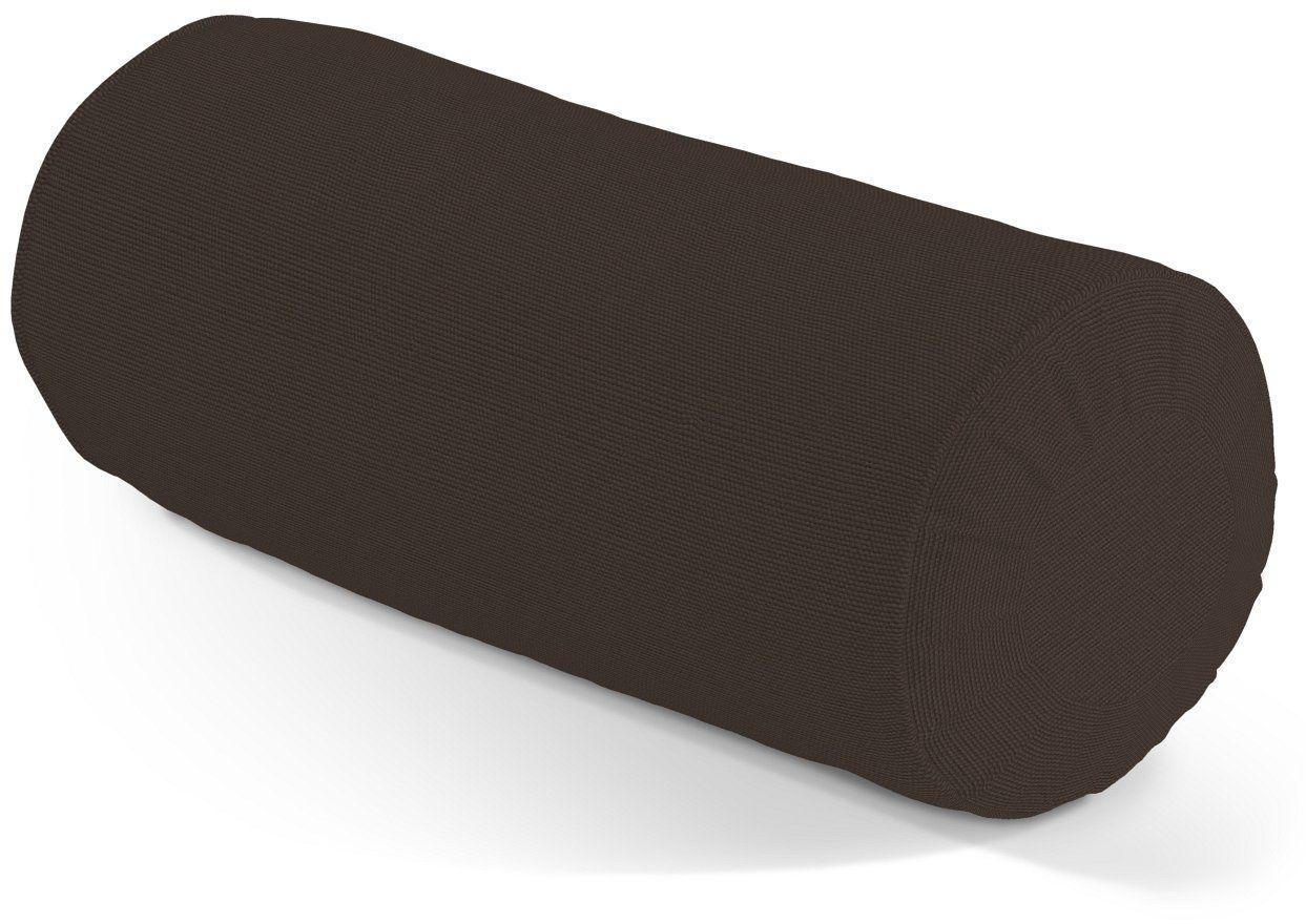 Poduszka wałek z zakładkami, Coffe (czekoladowy brąz), Ø20  50 cm, Cotton Panama