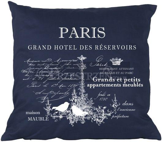 PODUSZKA OZDOBNA FRENCH HOME - PARIS BLUE