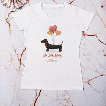 Pół metra miłości - Koszulka damska z nadrukiem