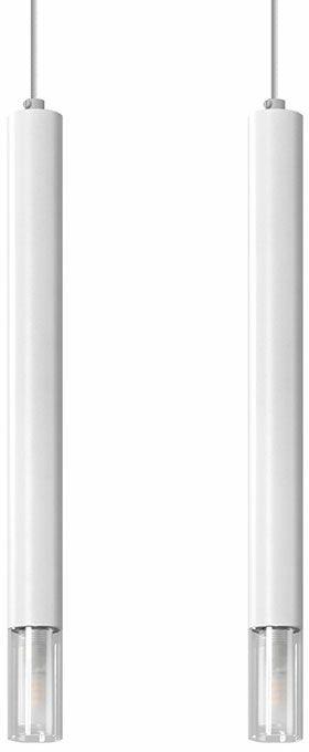 Biała podwójna lampa wisząca tuba - S160-Tixa