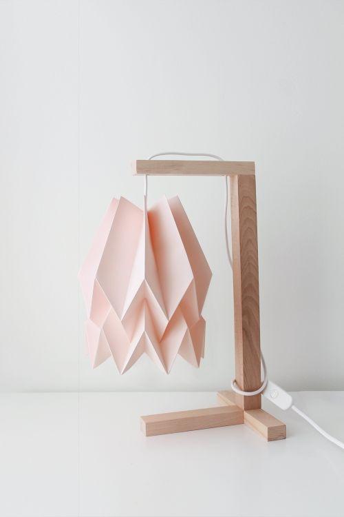 Lampa stołowa Table Pastel Pink Orikomi różowa oprawa w minimalistycznym stylu