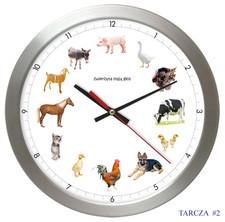 Zegar aluminiowy z głosami 12 zwierząt