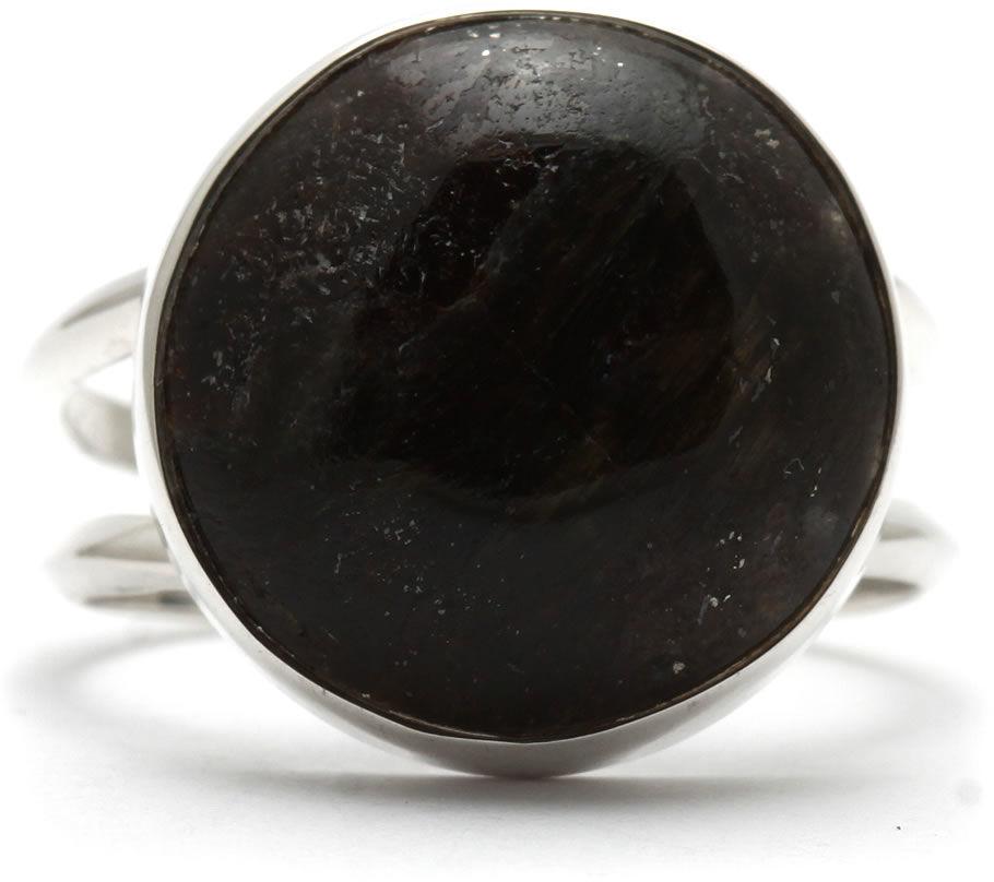 Kuźnia Srebra - Pierścionek srebrny, rozm. 14, Astrofyllit, 4g, model