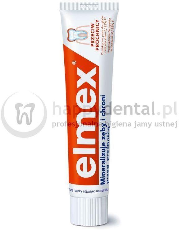 ELMEX Classic 75ml - pasta do zębów przeciw-próchnicowa z aminofluorkiem (pomarańczowa)