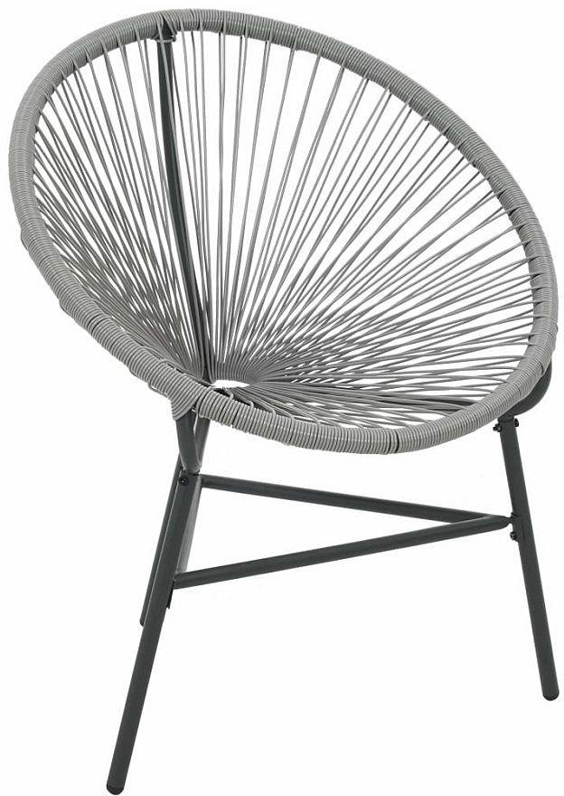 Ażurowe krzesło ogrodowe Corrigan - szare