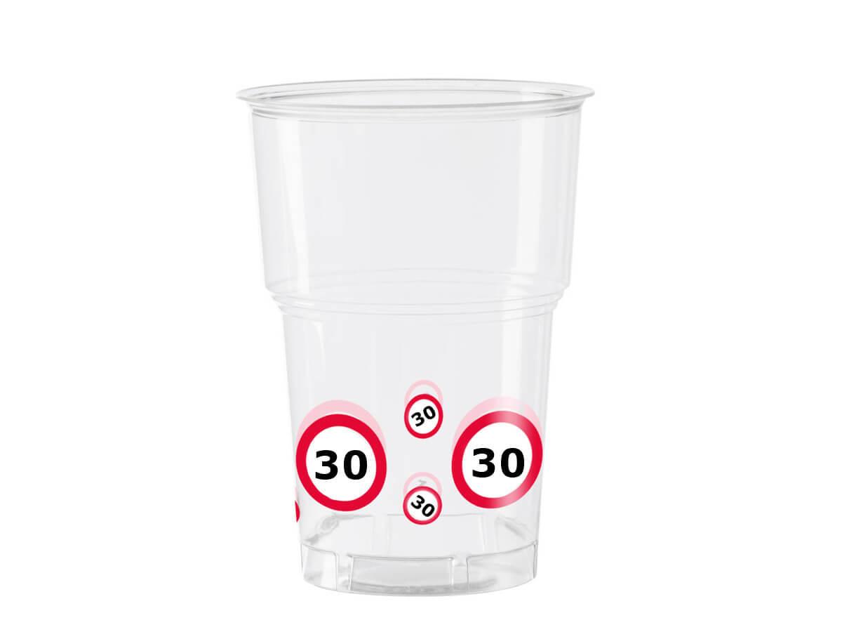 Kubeczki przezroczyste Znak zakazu 30tka - 350 ml - 10 szt.