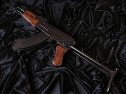 KOLEKCJONERSKI POSZUKIWANY AKS-47 KARABIN ZE SKŁADANĄ KOLBĄ repliki broni palnej (1097)