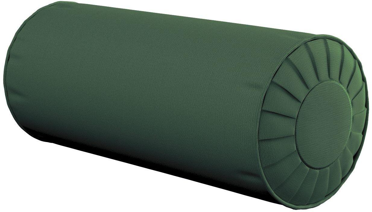 Poduszka wałek z zakładkami, Forest Green (zielony), Ø20  50 cm, Cotton Panama