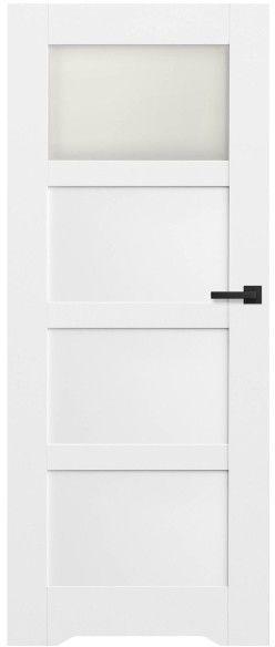 Drzwi bezprzylgowe z podcięciem Connemara 80 lewe kredowo-białe