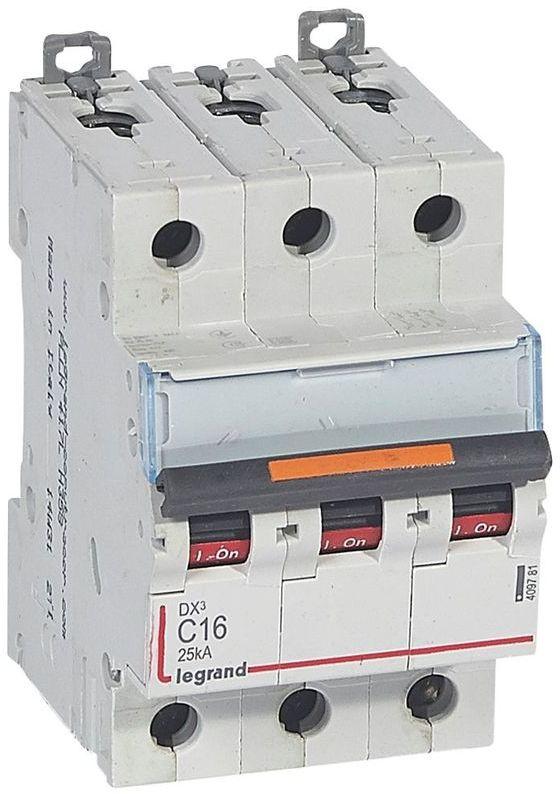 Wyłącznik nadprądowy 3P C 16A 25kA S323 DX3 409781