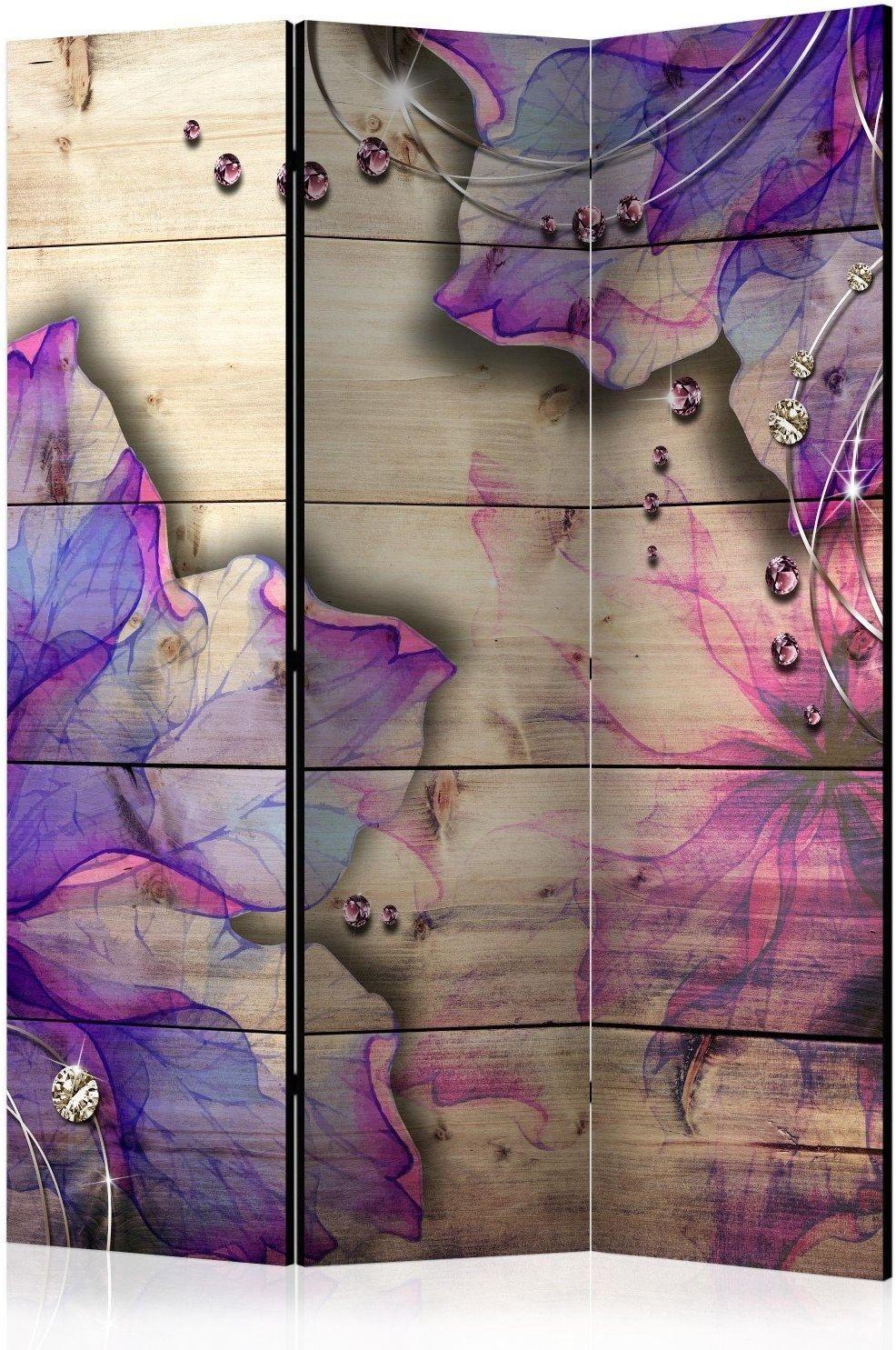 Parawan 3-częściowy - purpurowe wspomnienie [room dividers]