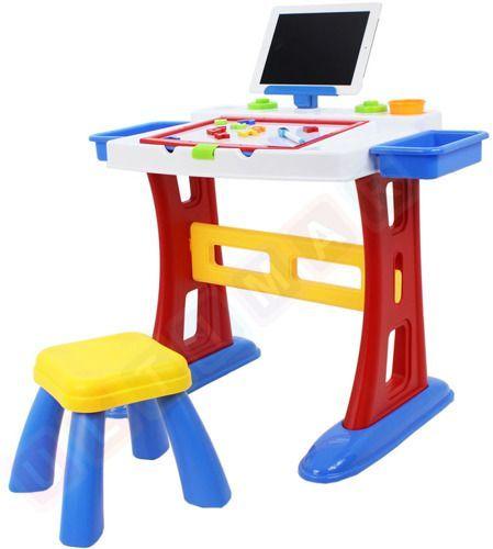 Stolik edukacyjny - podwójna tablica + akcesoria