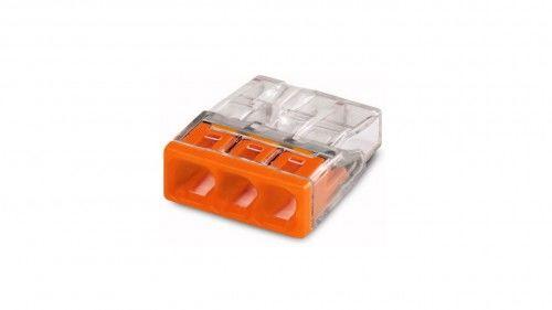 Szybkozłączka WAGO Compact 3 x 0,5-2,5 mm2 transparentna