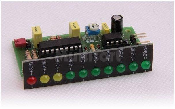 10 diodowy wskaźnik poziomu sygnału (do montażu)