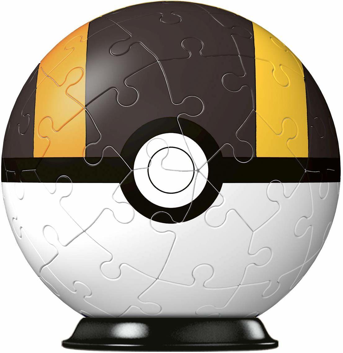 Ravensburger Puzzle 11266 Ravensburger 3D Puzzle 11266-Puzzle-Ball Pokéballs-Hyperballs-[EN] Ultra Ball 54 części dla fanów Pokémon od 6 lat, biały
