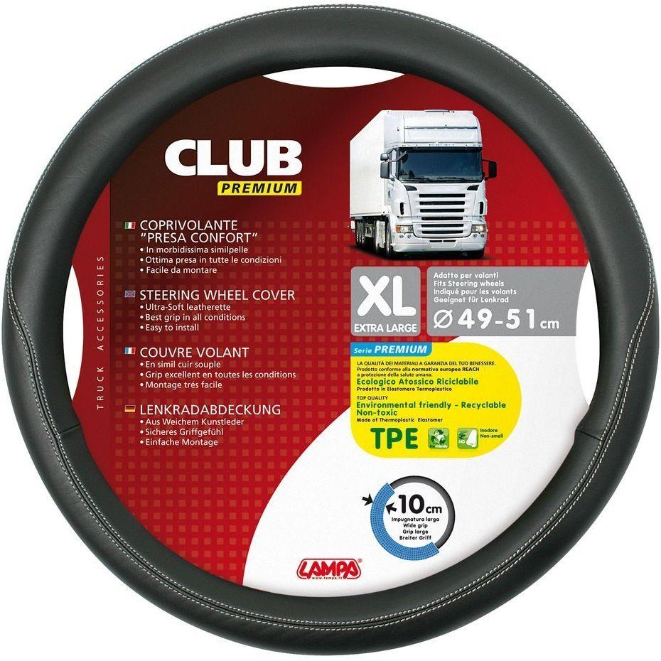 Pokrowiec na kierownicę ze skóry do samochódów ciężarowych XL Club Premium