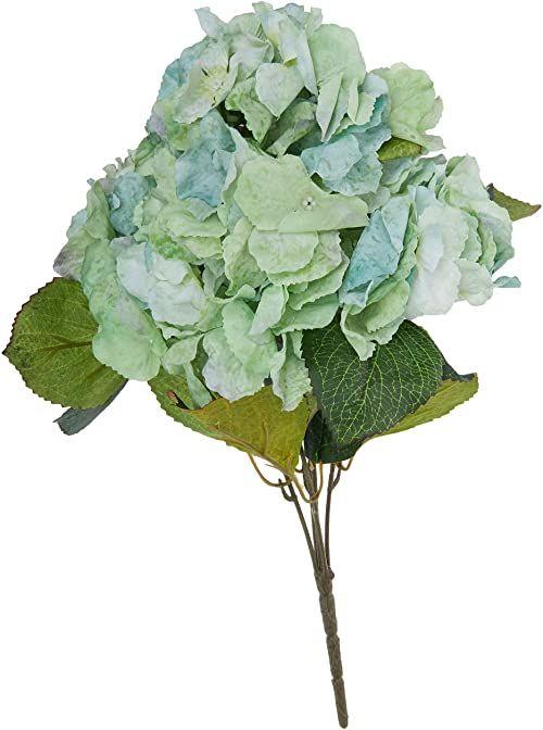 Better & Best 2511026  bukiet z 5 sztucznych kwiatów: hortensja, kolor: zielony i biały