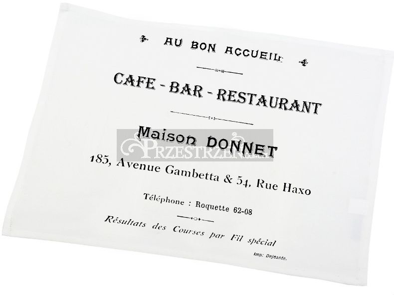 DWIE SERWETY OZDOBNE FRENCH HOME - CAFE BAR BIEL