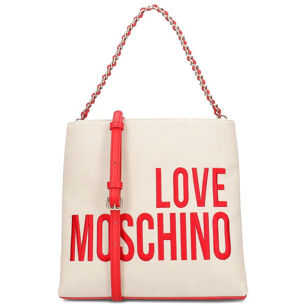 Love Moschino Canvas Embroidery - Torebka Damska - JC4113PP17LO0107 - Beżowy