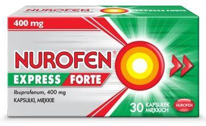Nurofen Express Forte 400mg 30 kapsułek miękkich