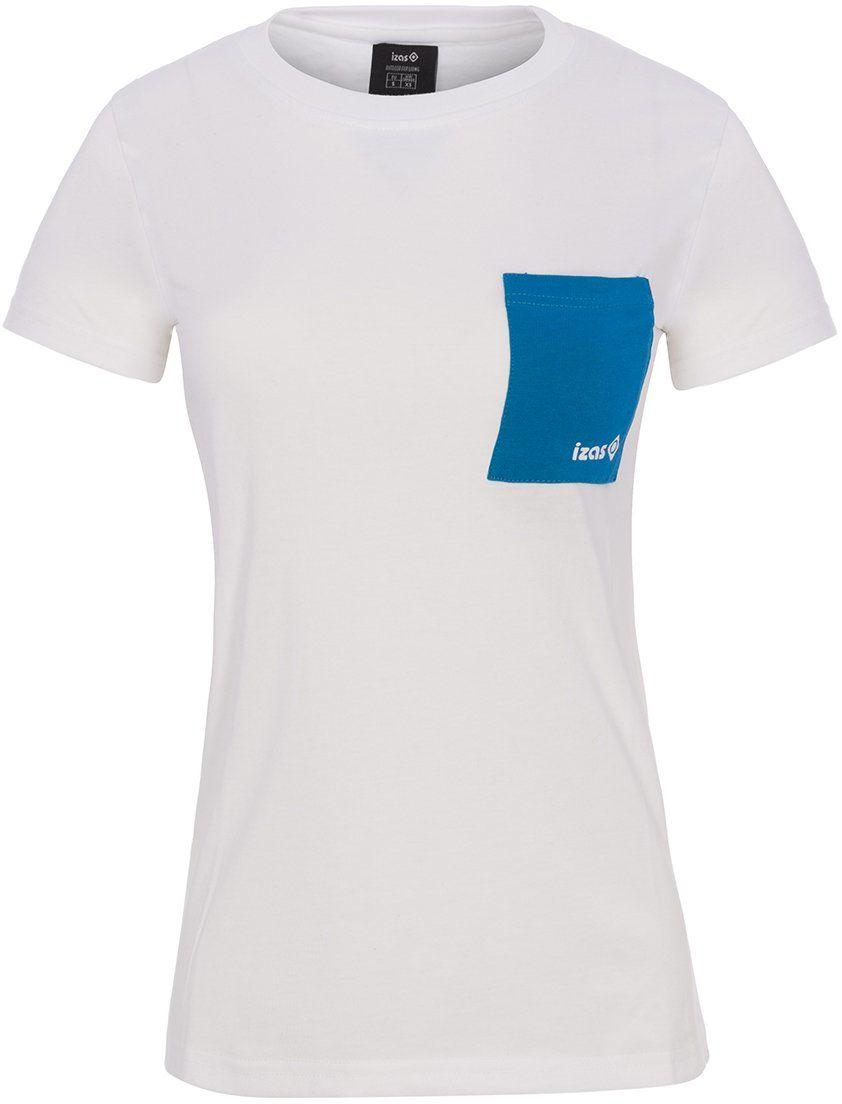 Isa''S męska koszulka Dakota na zewnątrz z krótkim rękawem, biały/turkusowy, duży