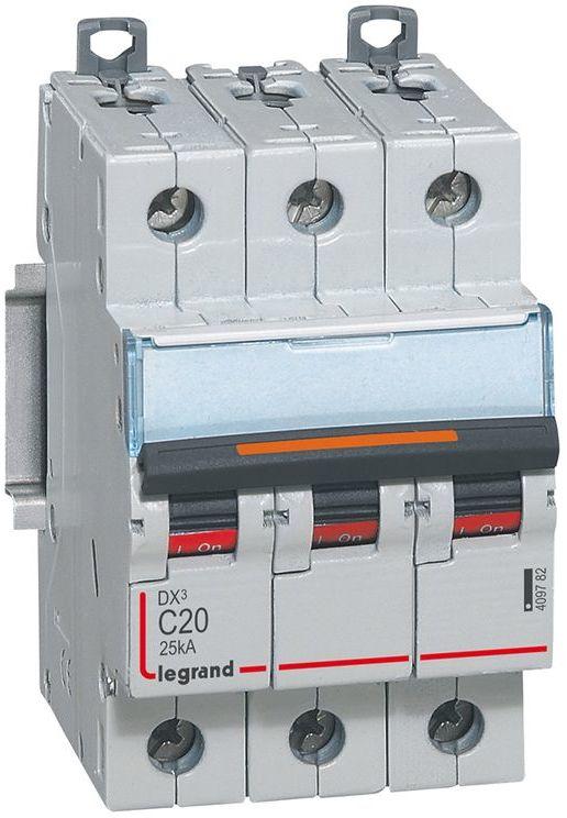 Wyłącznik nadprądowy 3P C 20A 25kA S323 DX3 409782