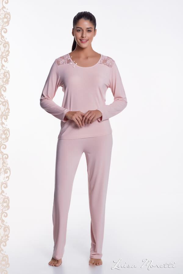 Damska bambusowa piżama PAOLA Różowy XL